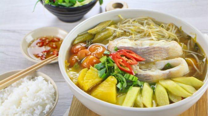 Canh chua cá bóp - trong top 5 quán cơm niêu ngon Phan Thiết